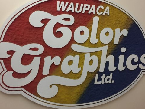 The sign that adorned Color Graphics Ltd. in Waupaca WI